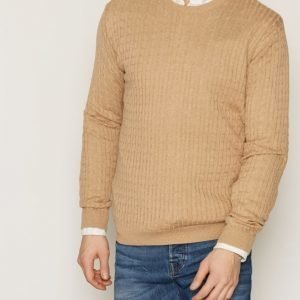 Tailored By Solid Knit Ascot Pusero Brown