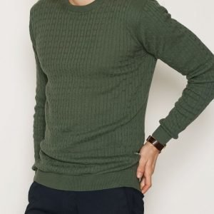 Tailored By Solid Knit Ascot Pusero Green