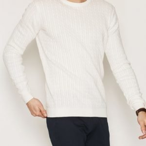 Tailored By Solid Knit Ascot Pusero White