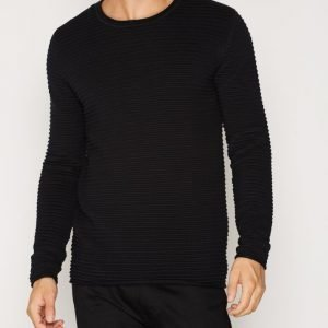 Tailored By Solid Shefford Knit Pusero Caviar