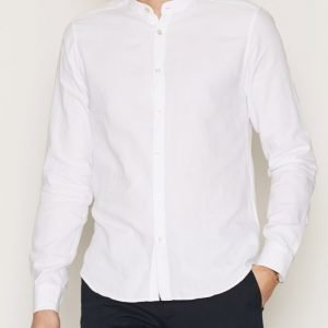 Tailored By Solid Shirt Dunster Kauluspaita White