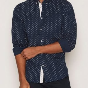 Tailored By Solid Shirt Hallaton Kauluspaita Eclipse