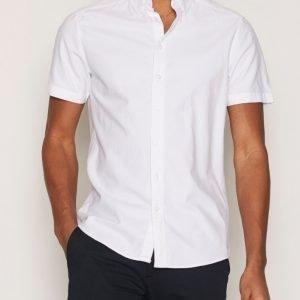 Tailored By Solid Shirt London Kauluspaita White
