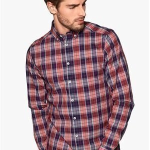 Tailored & Original Fullham Check Shirt 0907 Ruby Red
