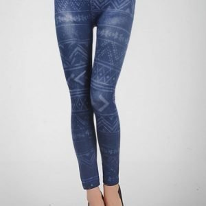 Tattoo Pattern Blue jeans print leggings