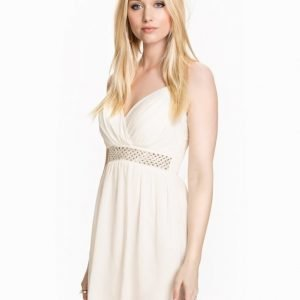 Te Amo Cross Front Diamonte Dress Vit