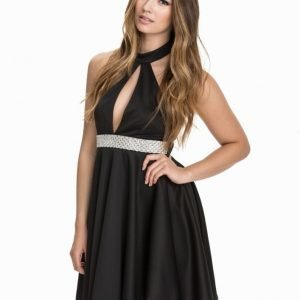 Te Amo Halterneck Keyhole Diamont Scuba Dress