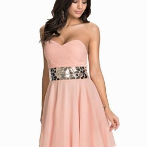 Te Amo Mirror Embellished Prom Dress Pink