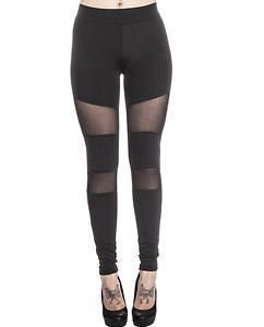 Tech Mesh Leggings Black