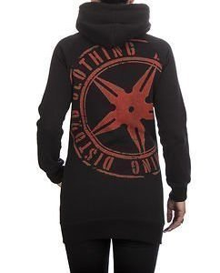 The Throwing Star Women Hoodie Black