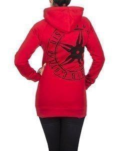 The Throwing Star Women Hoodie Red