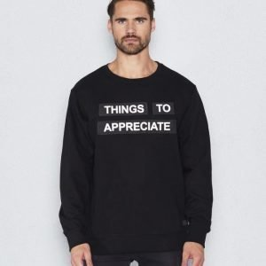 Things To Appreciate Patch Sweat Black