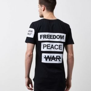Things To Appreciate Peace/War Tee Black