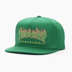 Thrasher Flame Logo Structured Snapback