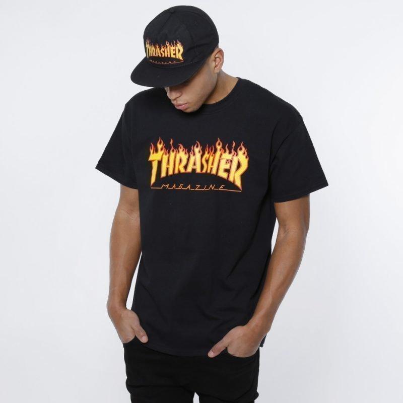 Thrasher Flame -t-paita