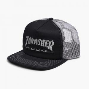 Thrasher Logo Embroidered Mesh Cap