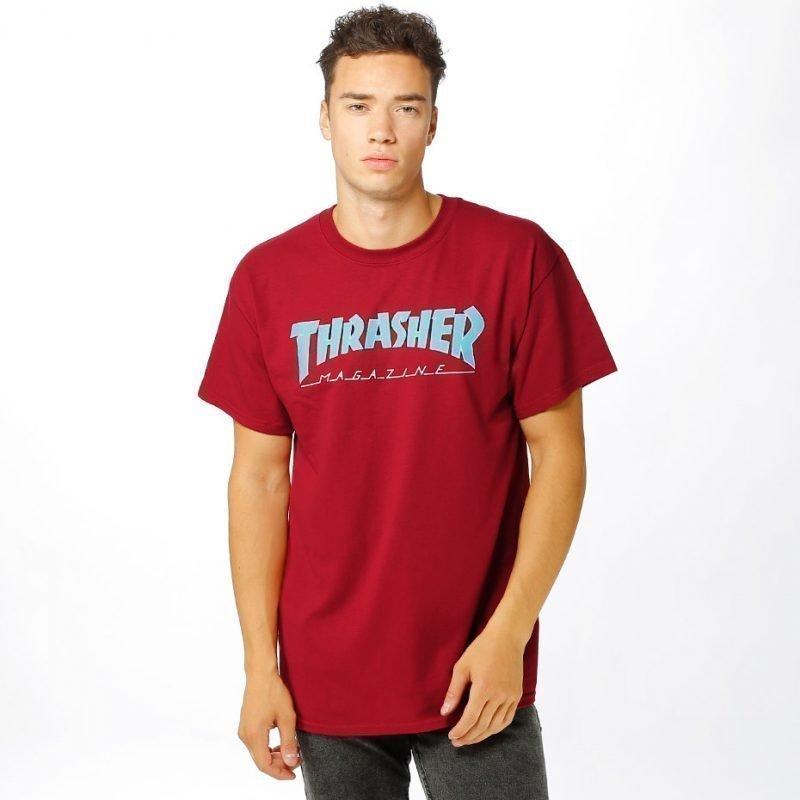 Thrasher Outlined -t-paita