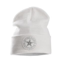Throwing Patch Beanie White