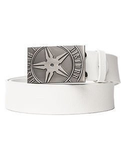 Throwing Star Belt White