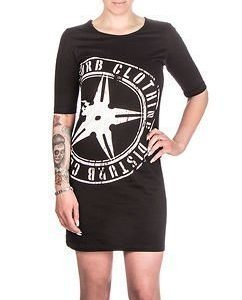 Throwing Star Long Tee Black