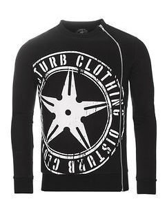 Throwing Star Zip Sweater Black