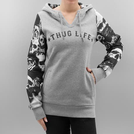 Thug Life Huppari Harmaa