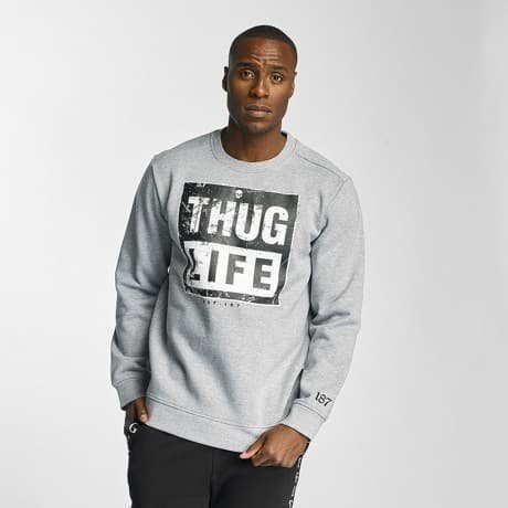 Thug Life Pusero Harmaa