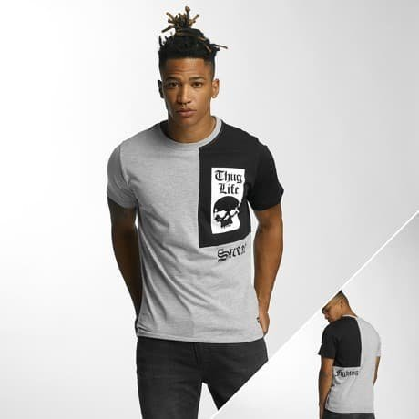 Thug Life T-paita Harmaa