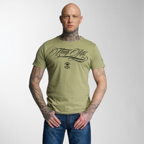 Thug Life T-paita Oliivi