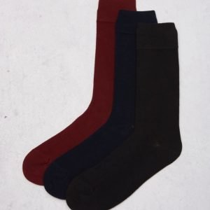 Tiger Of Sweden 3-pack Colonia Socks A01 Black/Navy/Bordeux