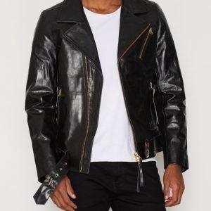 Tiger Of Sweden Jeans Hellish Leather Jacket Takki Black