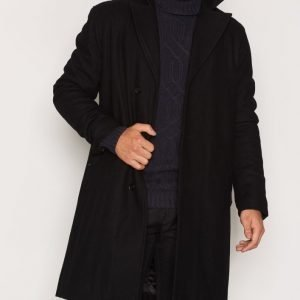 Tiger Of Sweden Jeans Mist Wool Coat Takki Musta