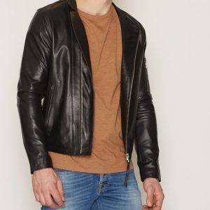 Tiger Of Sweden Jeans Rikki Leather Jacket Takki Black