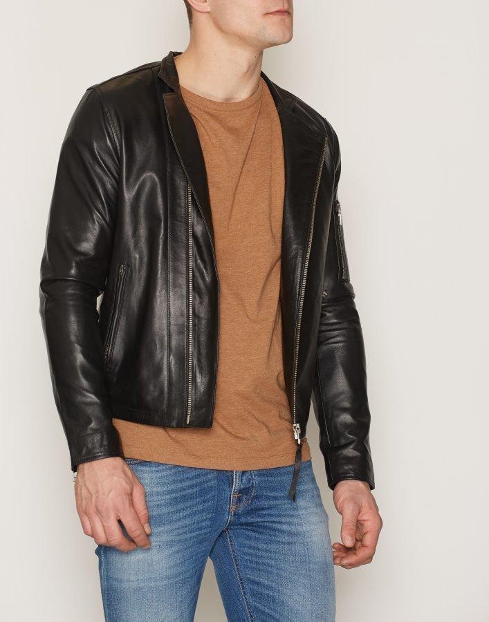 Tiger Of Sweden Jeans Rikki Leather Jacket Takki Black ... d3f0e4f8a3