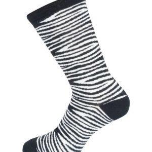 Tom Glory Zebra Socks Black