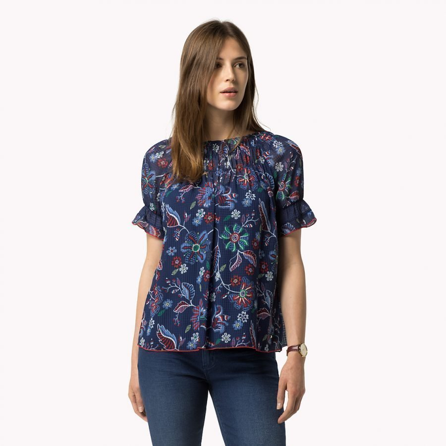 Tommy Hilfiger Abbey Print Top Pusero