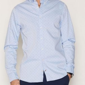 Tommy Hilfiger All Over Cotton Shirts Kauluspaita Blue/Black
