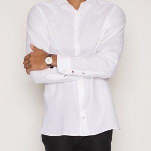 Tommy Hilfiger Boris Dobby Shirt Kauluspaita White