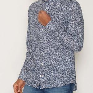 Tommy Hilfiger Byram Woven Shirt Kauluspaita White/Blue