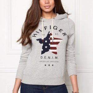 Tommy Hilfiger Denim Basic Graphic Hood 038 Lt Grey