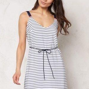 Tommy Hilfiger Denim Basic a-line dress 003 Egret/Navy blazer