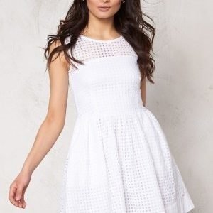 Tommy Hilfiger Denim Gathered Skirt Dress 100 Classic White