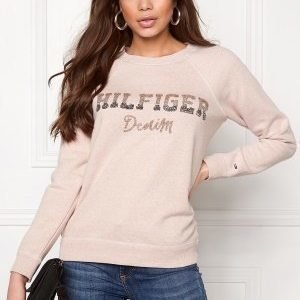 Tommy Hilfiger Denim L/S Knit 648 Mahogany Rose