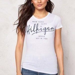 Tommy Hilfiger Denim S/S T-shirt 100 Classic White