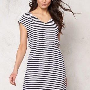 Tommy Hilfiger Denim Waisted Dress S/S 003 Egret/Navy blazer