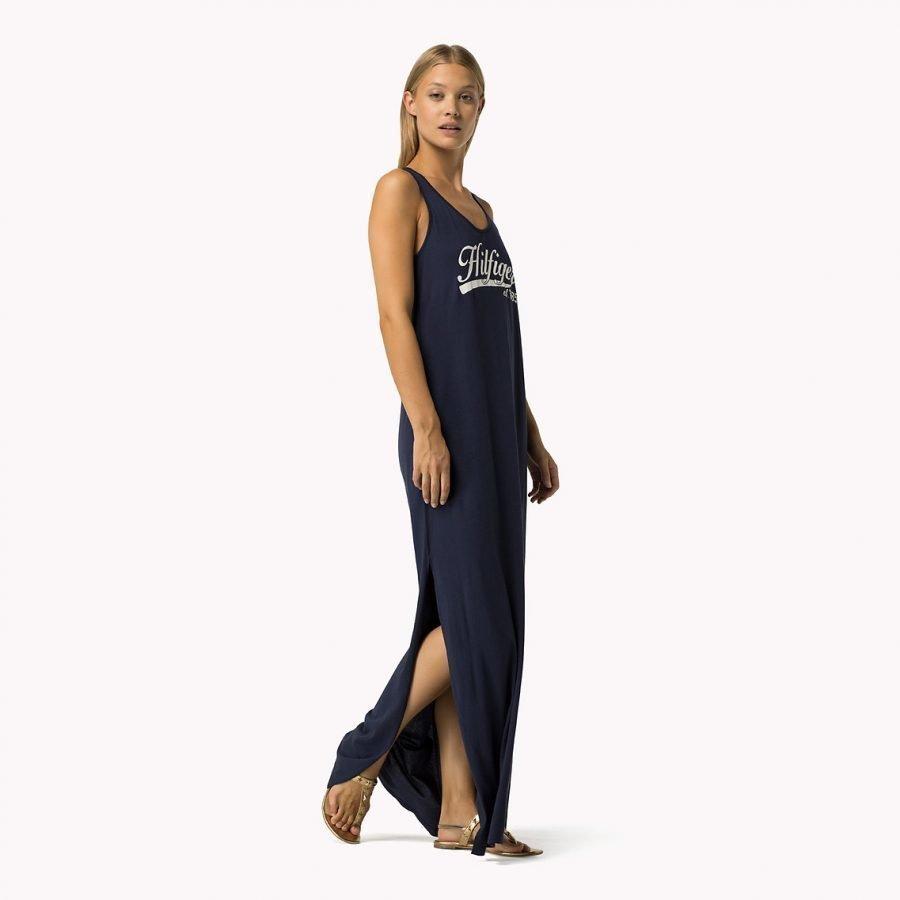 Tommy Hilfiger Kiara Logo Maxi Dress Pitkä Trikoomekko