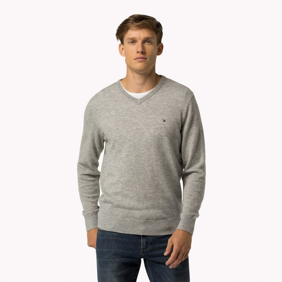 Tommy Hilfiger Lambswool V-Neck Miesten Villaneule