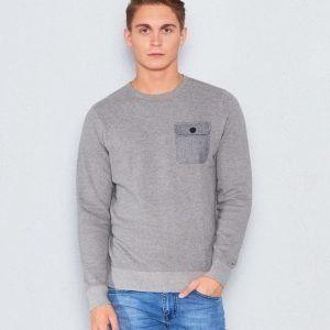 Tommy Hilfiger Structured HTR Pocket Crew Neck 043 Heather Grey
