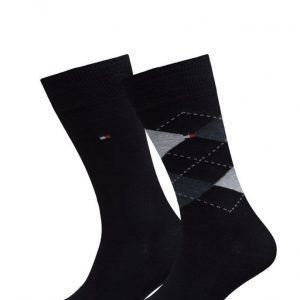 Tommy Hilfiger Th Men Sock Check 2-Pack nilkkasukat
