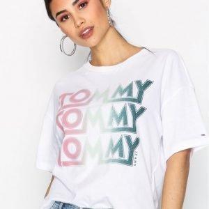 Tommy Jeans Cn T-Shirt T-Paita Valkoinen